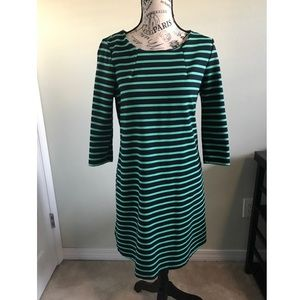 GAP Navy and Green Striped Dress